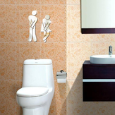 3D Spiegel Acryl Zilveren Muur Sticker Decal Badkamer Toilet DIY Square Spiegel Sticker