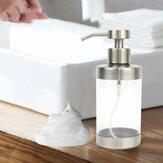SH152 Transparent En Acier Inoxydable Émulsion Bouteille Organisateur Savon De Toilette Main Liquide Bouteille Distributeur De Savon