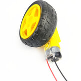 Small Hammer TT DC Motor With Wheel 10cm Male Plug Cable For DIY RC Robot Car
