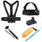EKEN 6 in 1 Head Strap Camera Mount Chest Strap Selfie Buoyancy for GoPro HERO SJcam