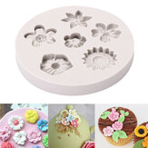 Flower Silicone Fondant Mold Cake Mould Decorating Baking Mold Sugarcraft Pastry Tool