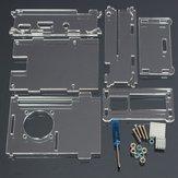 Acrylschale mit zwei Kühlkörpers Für Raspberry Pi 2 Modell B & RPI B +