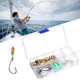 FishingLureFishingSinkersHuntingObrotowe złącze pierścienia z hakiem do połowów na świeżym powietrzu