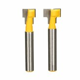 2pcs 9.52mm and 12.7mm Key Hole Blades T-Slot Cutter Wood Working Router Bit Set