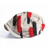 Banggood Design Hommes Lignes épaisses Motif Mode Casual Bord Court Octogonal Cap Beret Chapeau