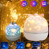 LED Rotation Starry Sky Ocean LED Night Light Projector with 6 Films Xmas Gift