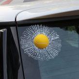 Labouledetennisd'autocollantsde fenêtre de voiture de PVC 3D imperméable créative frappe le décalque de corps de voiture