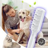 Sterylizacja zwierząt grzebień do masażu inteligentna pielęgnacja dezodoryzująca ozonem zdrowie psa z wydajną sterylizacją TYPE-C zdejmowany grzebień do czyszczenia