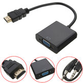HD Port Male to VGA With Audio HD Video Cable Wire Converter Adapter