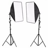 2x Studio Photography Video Softbox Light Stand Lighting Kit 50x70cm
