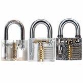 DANIU 3pcs Cutaway Внутренний вид практических навесных замков Lock Pick Tools Слесарный инструмент Наборы навыков Set