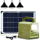 Power Station Solar Generator Lighting Kit Solar Light With 5m Cable For Home Camping Emergency Power Supply