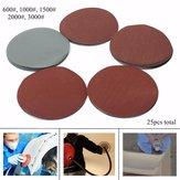 25pcs 600-3000 Grit 6 Inch Sanding Discs Sandpaper