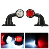 2pcs 5w 10-30 LED machine à côté tige lumière lampe de signalisation camion remorque camion van