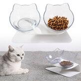 Antideslizante Gato Cuencos dobles / individuales con soporte elevado Comida para mascotas Cuenco de agua Perro Comedero