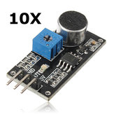 10Pcs Sound Detection Sensor Module LM393 Chip Electret Microphone Geekcreit for Arduino - products that work with official Arduino boards
