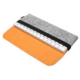 Felt PU Leather Protection Sleeve Caso Armazenamento Bolsa para Apple Magic Keyboard