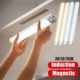 LED-nachtlampje Bewegingssensor Kastverlichting Onder kastverlichting Draadloze stick-overal Nachtveilige lichtbalk met grote batterij voor trappen Kledingkast Keuken Hal