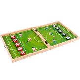 3 In 1 Fußballschachspiel Holz Exquisite Aufbewahrungsbox Fußballschach Flugschach Gobang Set Für Eltern-Kind Tisch Desktop-Spiele Spielzeug