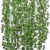 12 Stück künstliches Grün Vine Ivy Leaves Garland Hanging Wedding Party Gartendekorationen
