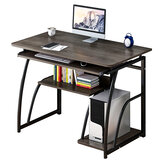 Escritorio de madera para computadora Estudio Laptop PC Estación de trabajo Bandeja de escritura Mesa Escritorio de oficina en casa
