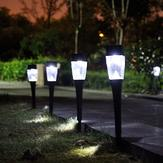 0.8W Solar Powered Plastic Outdoor Garden LED Landscape Light Path Lawn Yard Lamp