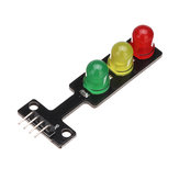 3pcs 5V LED Traffic Light Display Module Electronic Building Blocks Board Geekcreit for Arduino - products that work with official Arduino boards