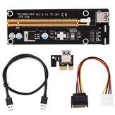 PCI-E Yükseltici Kartı 1x ila 16x USB 3.0 VER 007S 008S 009S Madencilik Genişletme Kartı BTC Genişleme Kartı
