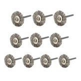 10pcs 22mm Steel Wire Wheel Brush for Dremel Rotary Tools
