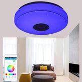 33 CM 70 W bluetooth Smart LED alto-falante musical luz de teto Controle Remoto APP Controle RGBW lâmpada colorida AC180-265V