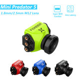 Câmera Foxeer Mini Predator 5 Racing FPV 22 * 22mm 1000tvl 1.8mm / 2.5mm M12 Latência Super WDR de 4ms