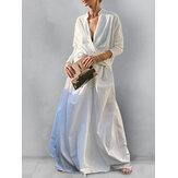 Női egyszínű, nyakú, magas, alacsony szegélyű blúz, rugalmas derék hintaszoknya két darabból