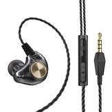 Bakeey X1 3.5mm In-Ear Wired Headset Subwoofer HIFI Bass Stereo Earbuds Earphones with Microphone