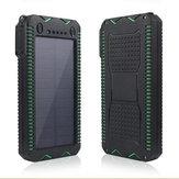 IPRee® 4 In 1 12000mAh Portable Solar Charger Panel Emergency Flashlight USB Power Bank