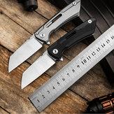 D2 Katlanır Mini EDC Taktik Bıçak Hayatta Kalma Aletler Kampçılık Avcılık için 16 CM Cep Bıçağı