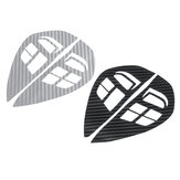 Carbon Fiber Pattern Car Steering Wheel Control Stickers Decal Trim for Mitsubishi ASX Lancer