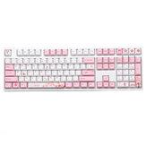 Tasti 108/130 Rosa Set di copritasti in ciliegio bianco Cherry Profile PBT con copritasti a sublimazione per tastiera Meccanico