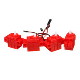 4PCS KittenBot® Red اللون 360 ° Geekmotor مع سلك لـ Lego / Micro: bit ذكي Robot Car