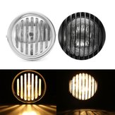6.5inch Motorcycle Headlight Retro Grill Guard Metal For Harley Chopper Cafe Racer