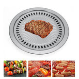 Stainless Steel 30cm BBQ Grill Plate Barbecue Non Stick Coating Roaster Plate for Camping Picnic