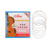 Alices Guitar Strings A103 Clear Nylon Silver Plated EBGDAE Single 6 Strings Guitar Parts Classical Guitar Strings