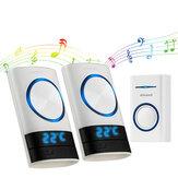 Smart Wireless Doorbell 45 Songs Полифонические рингтоны и передача 200 м