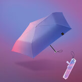 Beneunder Mini Folding Sun & Rain Umbrella UPF 50+ LRC Vinyl 99٪ UV Protection مفرد Layer 130g Lightweight Pencil Umbrella