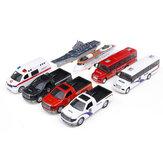Simulazione Bus Inerial Car Model Toy And Light Voice Scuolabus giocattolo per bambini
