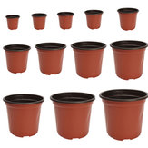 100 stk Plast Have Have Nursery Pot Flower Terracotta Seedlings Planter Containers Set