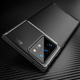 Bakeey Luxury Carbon Fiber Pattern with Lens Protector Shockproof Silicone Protective Case for Samsung Galaxy Note 20 Ultra / Galaxy Note20 Ultra 5G