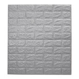 Large 3D Waterproof Tile Brick Wall Sticker Self-adhesive Foam Panel 70*77cm House Decor
