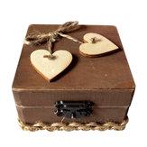 素朴な結婚式のパーソナライズされたリングベアラーボックス愛する結婚式のギフト