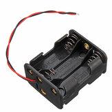 6 slots AA-batterijhouder Plastic koffer Opbergdoos voor 6xAA-batterij