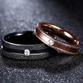 Altın Siyah Şerit Paslanmaz Çelik Çift Halka Kadın Takı Birthday Buluşma Hediyesi